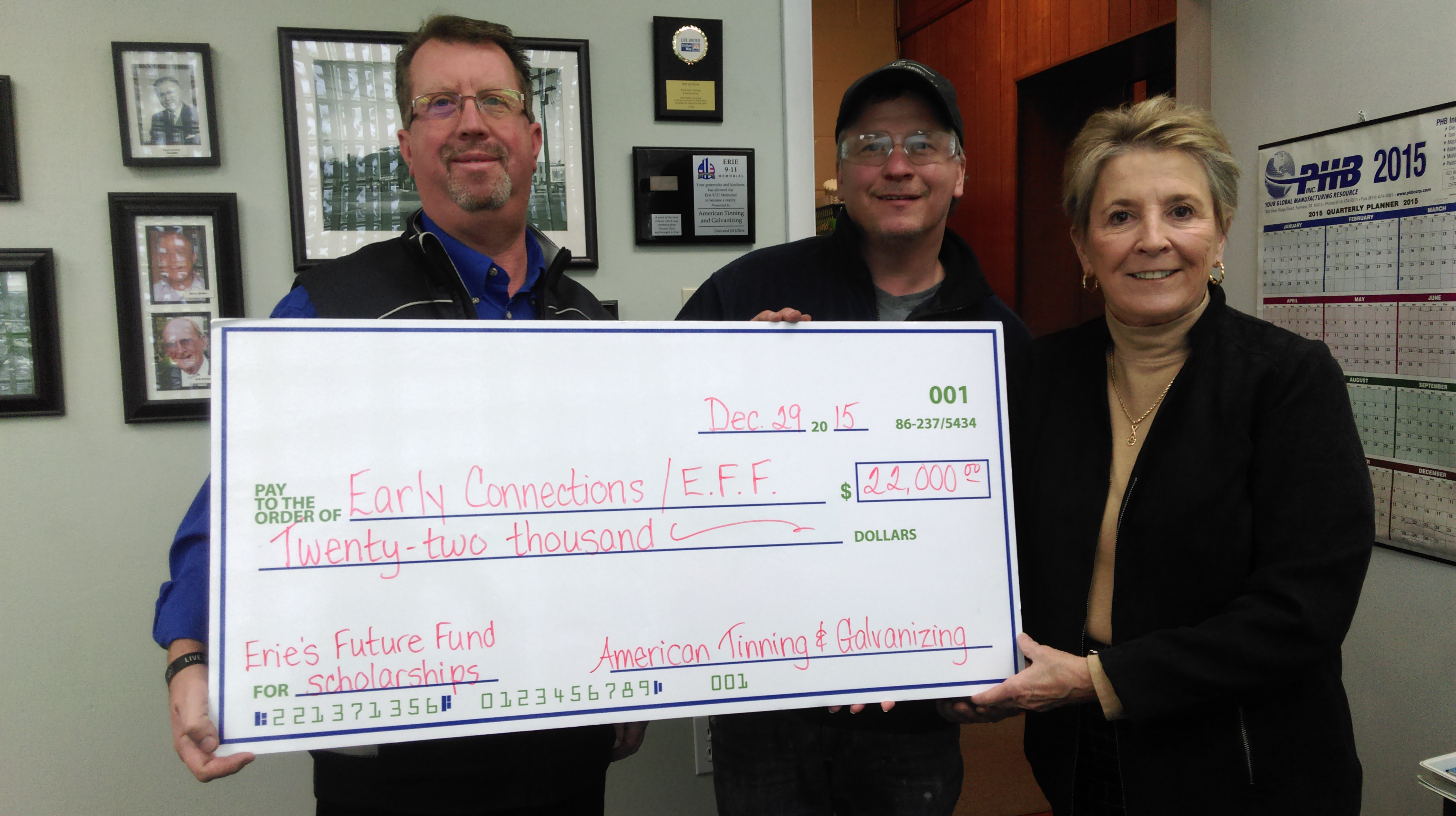 Thank You American Tinning and Galvanizing! | Erie's Future Fund